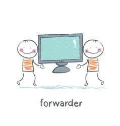 Freight forwarder has a tv vector