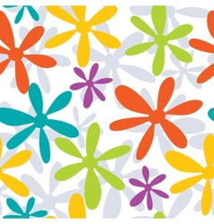 Seamless pattern with abstract hand drawn flowers vector