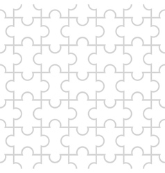 Seamless pattern in the form of puzzle vector