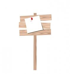 Wooden billboard vector