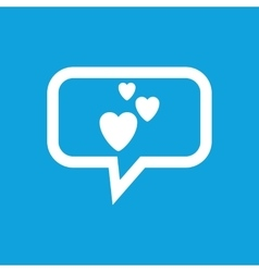 Love message icon vector