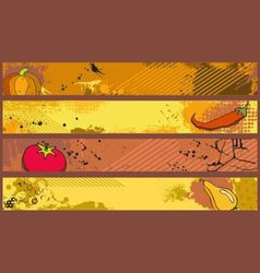 Grunge banners food vector