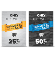 Summer sale flyer template vector