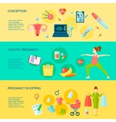 Pregnancy Banners Set vector image