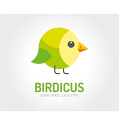 Abstract bird toy logo template for vector