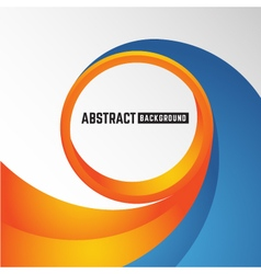 abstract orange and blue curve circle background vector image