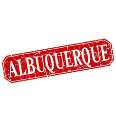 Albuquerque red square grunge retro style sign vector