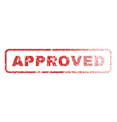 Approved rubber stamp vector