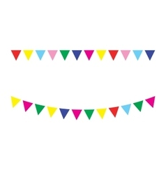 Bunting festive flags vector