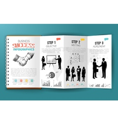 Business infographics brochure vector image vector image