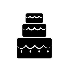 Cake three floors vector