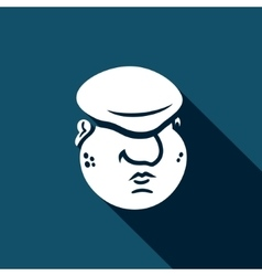 Cartoon immigrant head icon vector