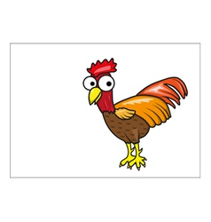 Chicken cartoon vector image vector image