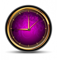 clocks with purple dial vector image