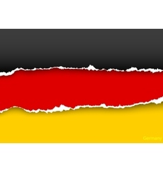 Design flag germany from torn papers with shadows vector