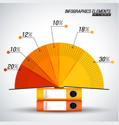 Diagram infographics elements vector
