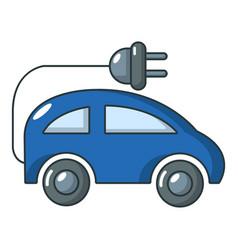 Electric car icon cartoon style vector