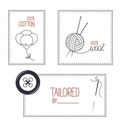 Emblems for cotton wool and tailor products vector