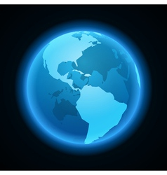 Globe earth night light icon vector image