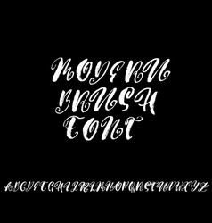 Hand drawn elegant calligraphy font with curl vector