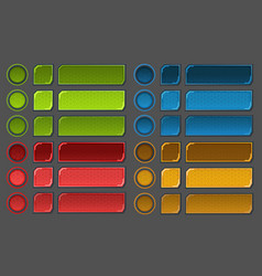 interface buttons set for space games or apps vector image vector image