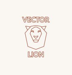 linear lion symbol vector image