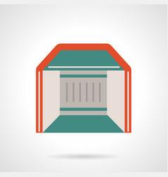 Mobile pavilion flat color icon vector
