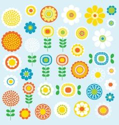 mod flowers vector image