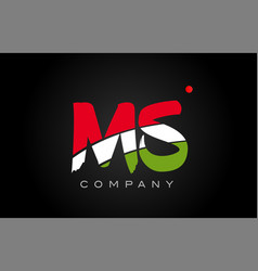 Ms m s alphabet letter logo combination icon vector