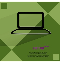 Notebook Flat modern web button on a flat vector image vector image