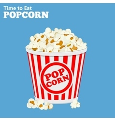 paper bag full of popcorn vector image