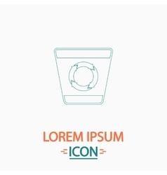 Recycle bin computer symbol vector image vector image