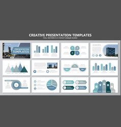 Set of blue and gray elements for multipurpose vector
