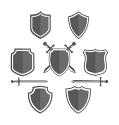 Simple shields badges design Retro design vector image vector image