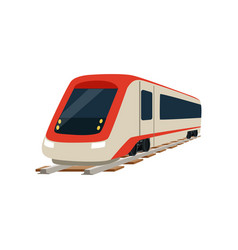 Speed modern high speed railway train locomotive vector