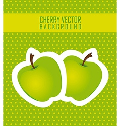 Stickers apple green dot background vector