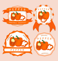 the theme pepper vector image
