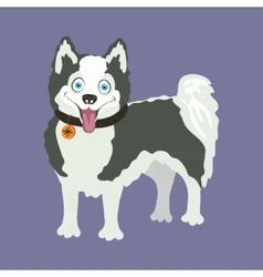 Yakutian eskimo dog vector