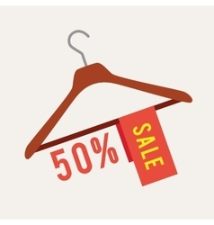 Clothes hanger with sale vector