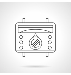 Floor temperature controller flat line icon vector