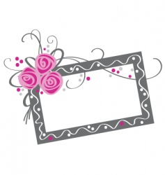 Floral frame with roses vector