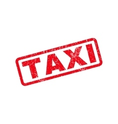 Taxi Rubber Stamp vector image