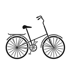 children s bicycle with low frame and luggage vector image