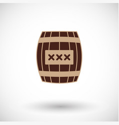 cask flat icon vector image
