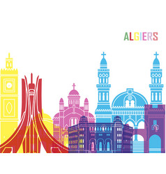 algiers skyline pop vector image