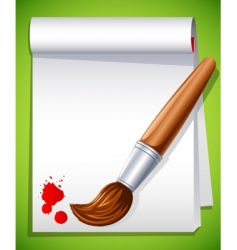 paintbrush vector image