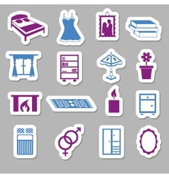 Bedroom stickers vector
