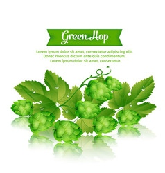 1green hop vector