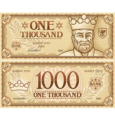 Thousand dollar banknote vector
