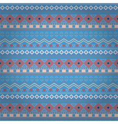 Tribal ethnic seamless stripe pattern on blue vector